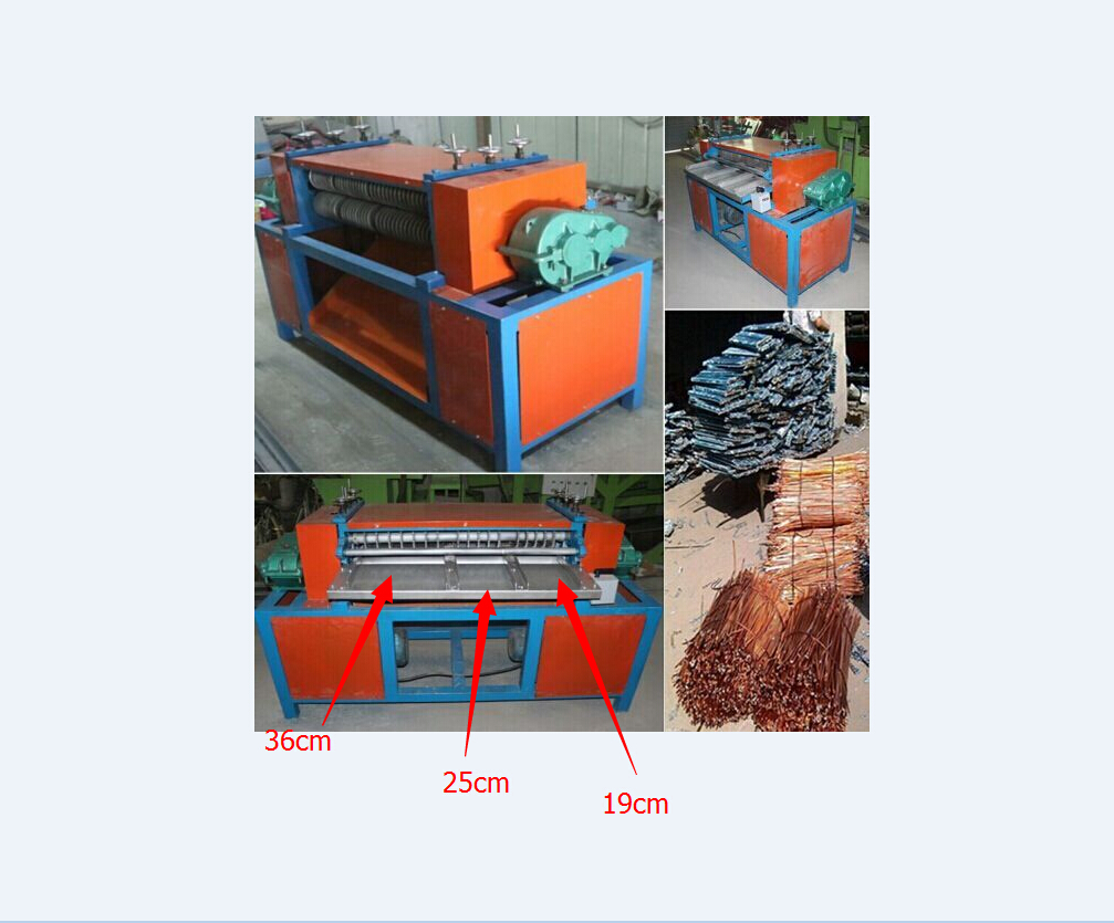 Air conditioning radiator crusher and separator re...